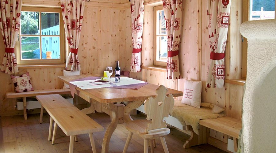 The wooden chalets